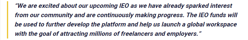 Ibrahem Hassan, the CEO of Freelanex, commented