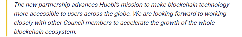 Ciara Sun, Vice President of Global Business at Huobi Group said