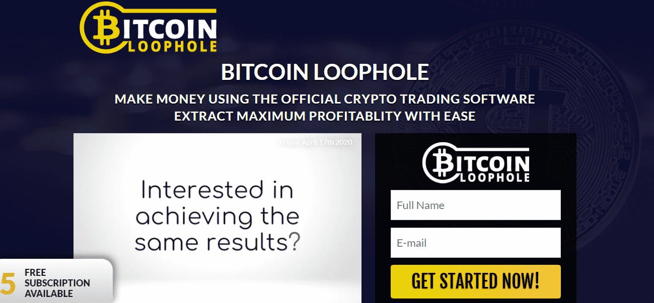 Bitcoin Loophole Trading platform