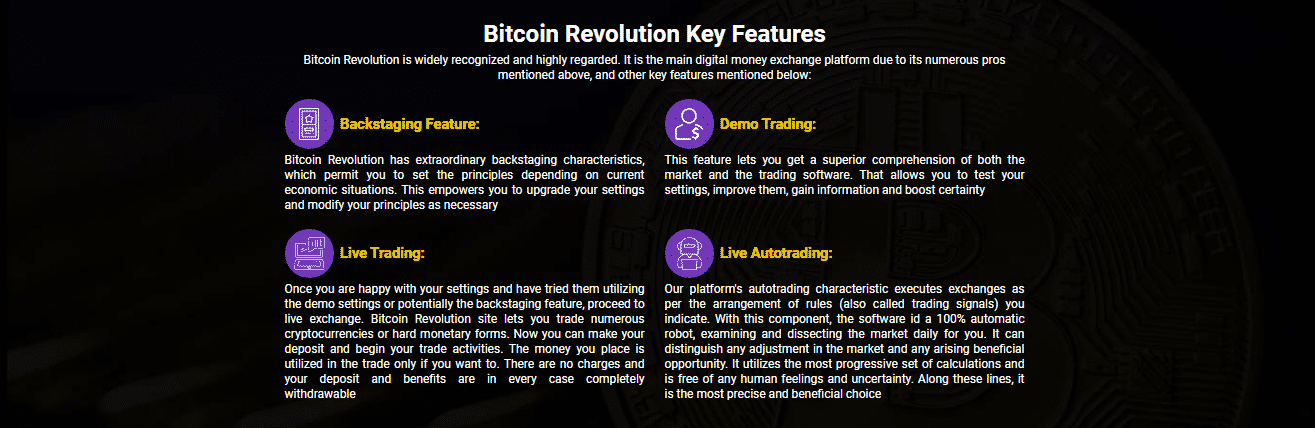 Features of Bitcoin Revolution Reviews