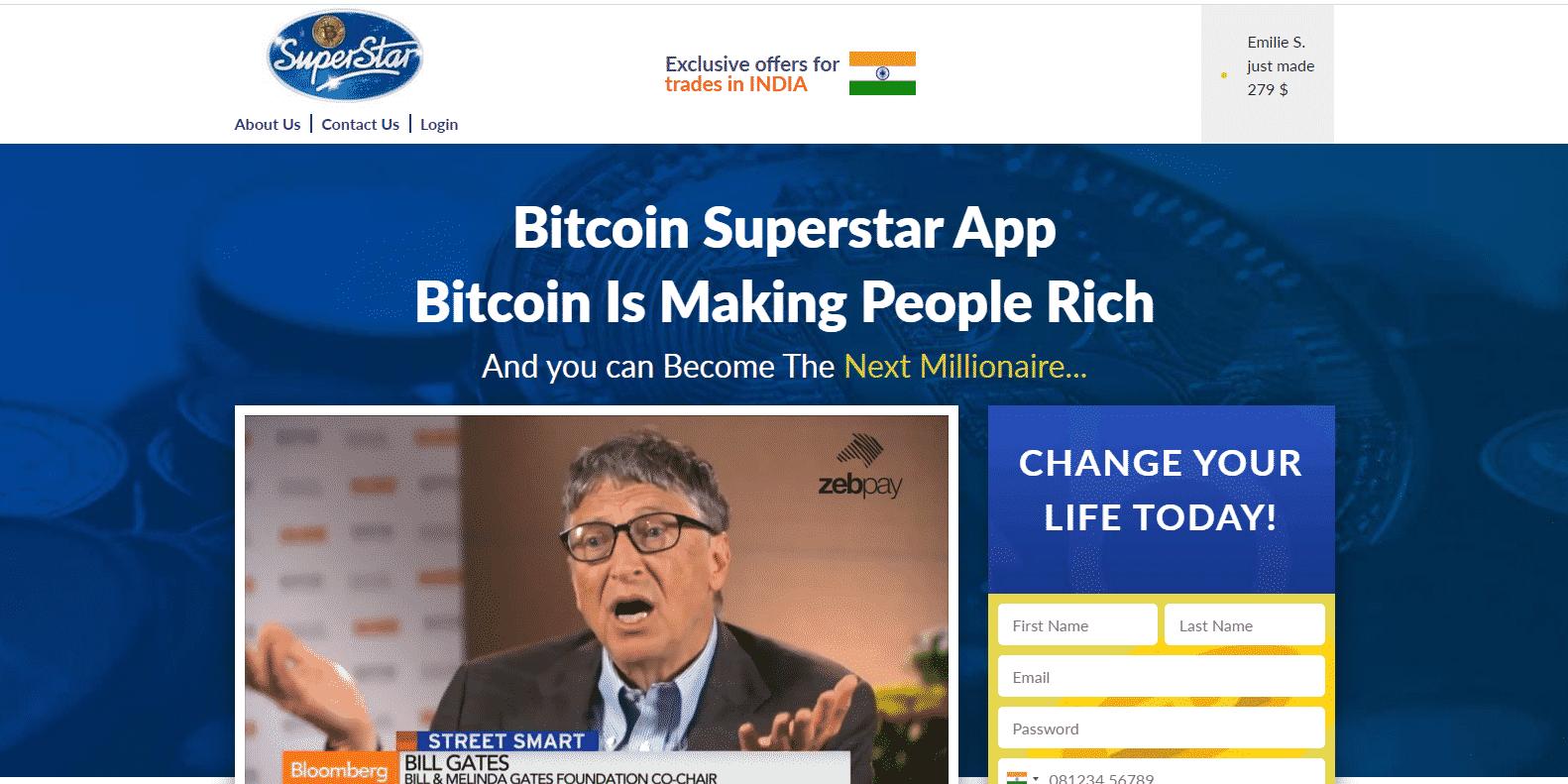 Bitcoin Superstar Trading platform