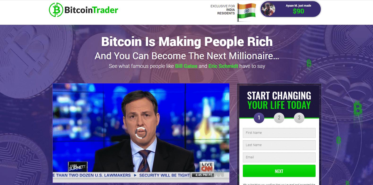 Bitcoin Trader Trading Platform
